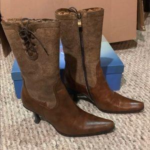 Real Fur Dutch Boots